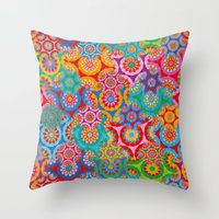 bohemian Throw Pillows featuring Bohemian by Helene Michau