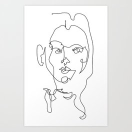 Lined Woman Art Print