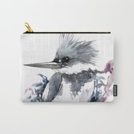 Belted Kingfisher, Gray design, Gray design Carry-All Pouch
