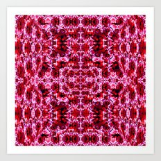 Spring exploit floral pattern second version Art Print