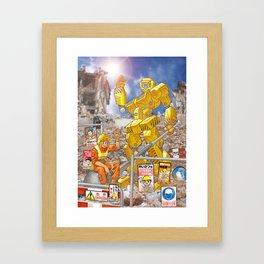 Men at Work Framed Art Print