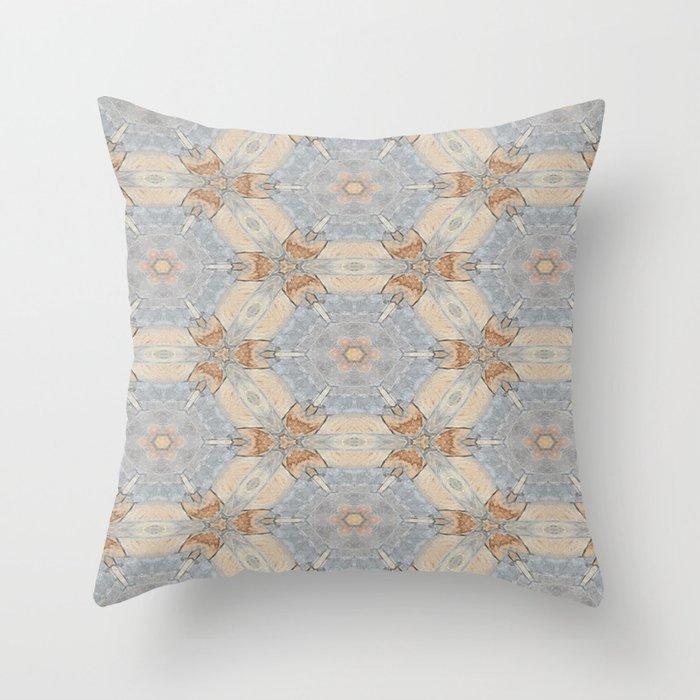The Alamo Kaleidoscope DNA 6390 Throw Pillow