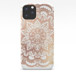 Mandala Rose-Gold Shine I iPhone Case