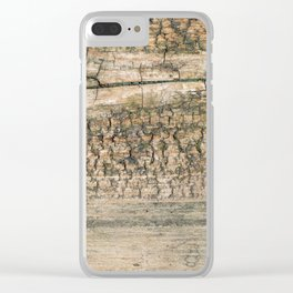 Rustic Wood Turquoise Weathered Paint Wood Grain Art Print Rustic Wood Turquoise Weathered Paint Woo Clear iPhone Case