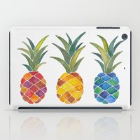 pineapples iPad Cases featuring Pineapples by Cat Coquillette