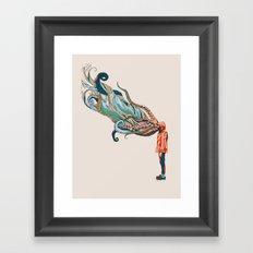 Octopus in me Framed Art Print
