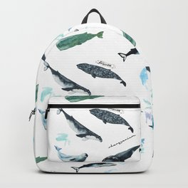 cetacean pattern Backpack