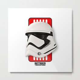 Stormtrooper New Helmet Metal Print