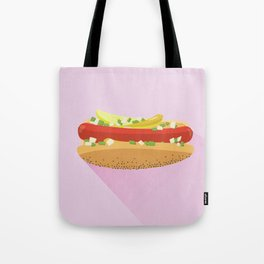 Flat Vector Chicago Dog Tote Bag