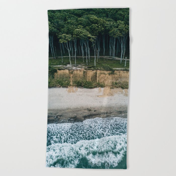Waves, Woods, Wind and Water - Landscape Photography Beach Towel