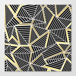 Ab Lines 2 Gold Canvas Print