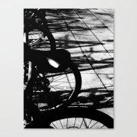 bikes Canvas Prints featuring bikes by meme grant