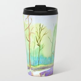 The Path in the Woods Travel Mug
