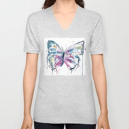 Vibrant Butterfly Unisex V-Neck