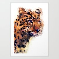 leopard Art Prints featuring Leopard by jbjart