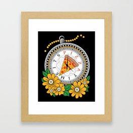 It's Pizza Time Framed Art Print