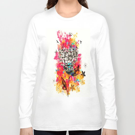 Abstract flower's face, colors Long Sleeve T-shirt