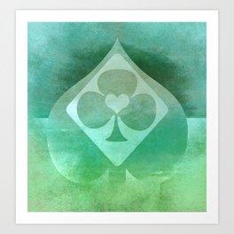 Full of Aces (Mint Version) Art Print