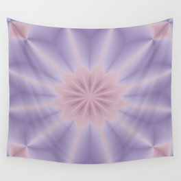 Pink and Lilac 3D Flower Three Wall Tapestry