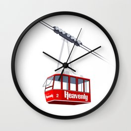 Heavenly Cable Car Wall Clock