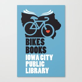 Bikes Books Iowa City Public Library Canvas Print