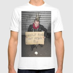 Help Punk Get Drunk Mens Fitted Tee White MEDIUM