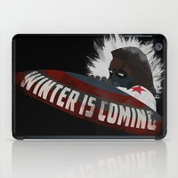 the winter soldier iPad Cases featuring Winter Soldier Is Coming by Liam Neal