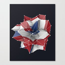Abstract circular dutch flag in c4d Canvas Print