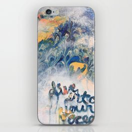 Dive into your ocean iPhone Skin