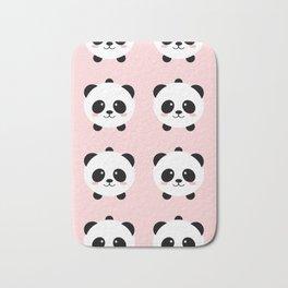 Lovely kawai panda bear Bath Mat