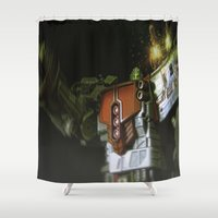 """supreme Shower Curtains featuring """"Who Challenges Omega Supreme?!!!"""" by TJAguilar Photos"""