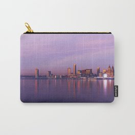 Liverpool Port Night Lights Sunset Panorama United Kingdom Carry-All Pouch
