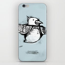 Floating Bird iPhone Skin