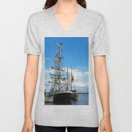 Sailing Vessel Unisex V-Neck