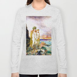 """Gustave Moreau """"The Sirens"""" Long Sleeve T-shirt"""