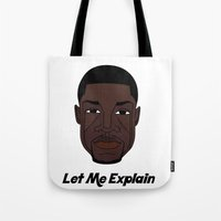 kevin russ Tote Bags featuring Kevin Hart by Λdd1x7