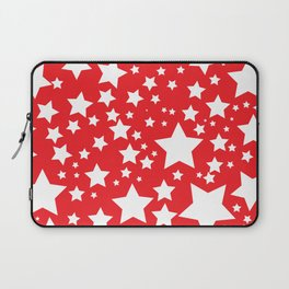 Red with white stars Laptop Sleeve