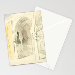 """Eugène Delacroix """"A courtyard in Marocco"""" Stationery Cards"""