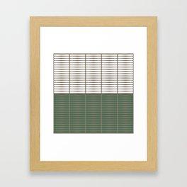 gomila (green/white) Framed Art Print
