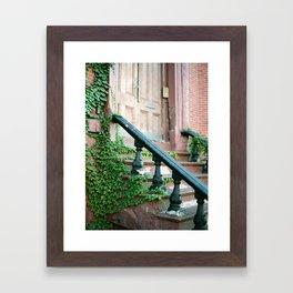 Boston Brownstone Framed Art Print
