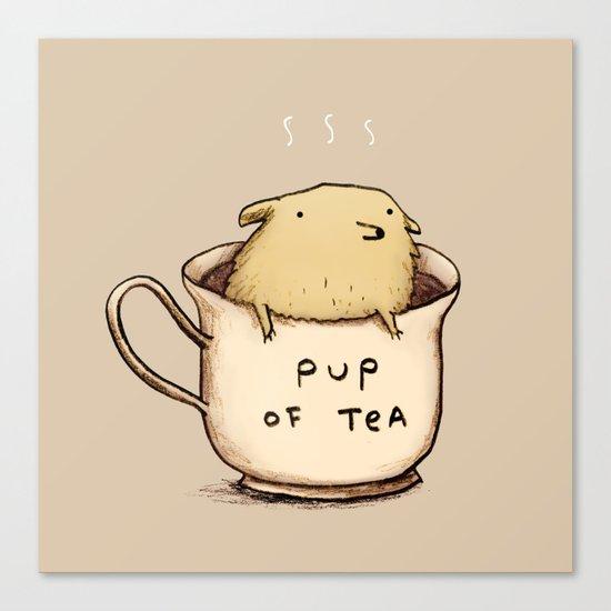 Pup of Tea Canvas Print