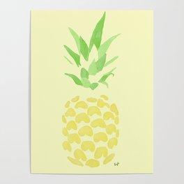 Pineapple watercolour (yellow) Poster
