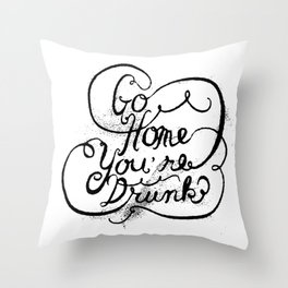 GO HOME Throw Pillow