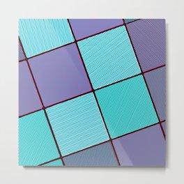 Purple and Aqua Metal Print