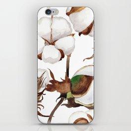 Cotton Flower Pattern 01 iPhone Skin