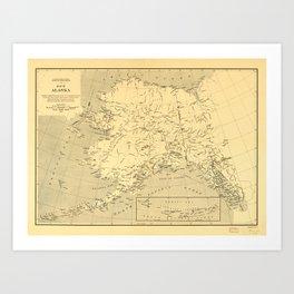Map of Alaska (1909) Art Print