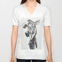 ballet V-neck T-shirts featuring Ballet by Rosalia Mendoza