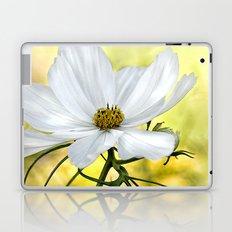 Floral White Cosmos Laptop & iPad Skin