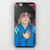 snl iPhone & iPod Skins featuring SNL Mike Meyers as Linda Richman by Portraits on the Periphery