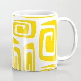 Mid Century Modern Cosmic Abstract 613 Yellow Coffee Mug